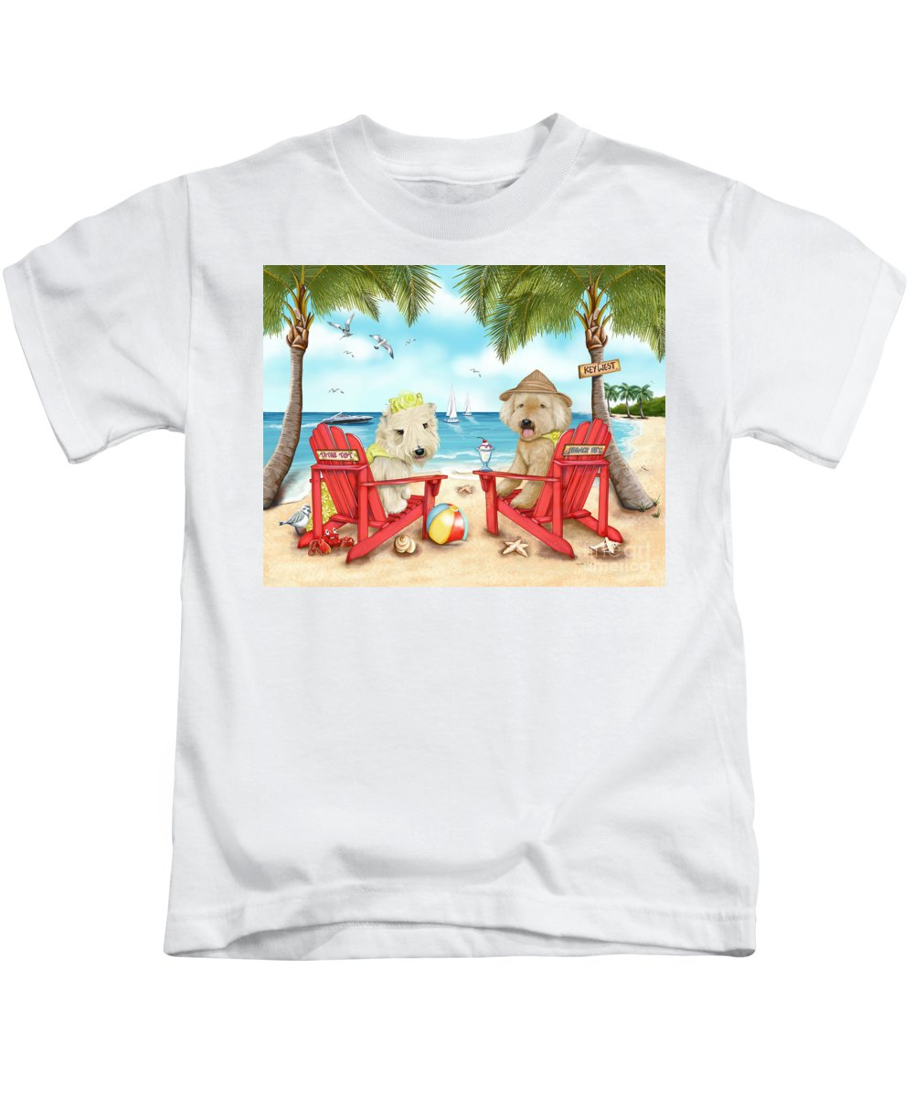 Key West Kids T-Shirt featuring the mixed media Loving Key West by Catia Lee