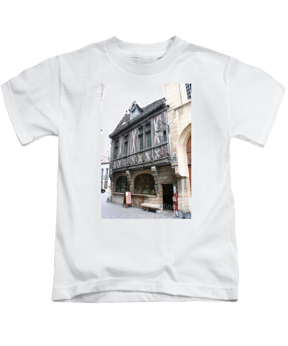 House Kids T-Shirt featuring the photograph Maison Milliere - Dijon - France by Christiane Schulze Art And Photography