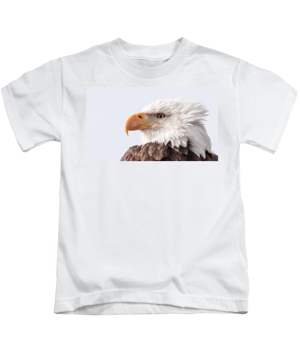 Eagle Kids T-Shirt featuring the photograph Majestic by Donald J Gray