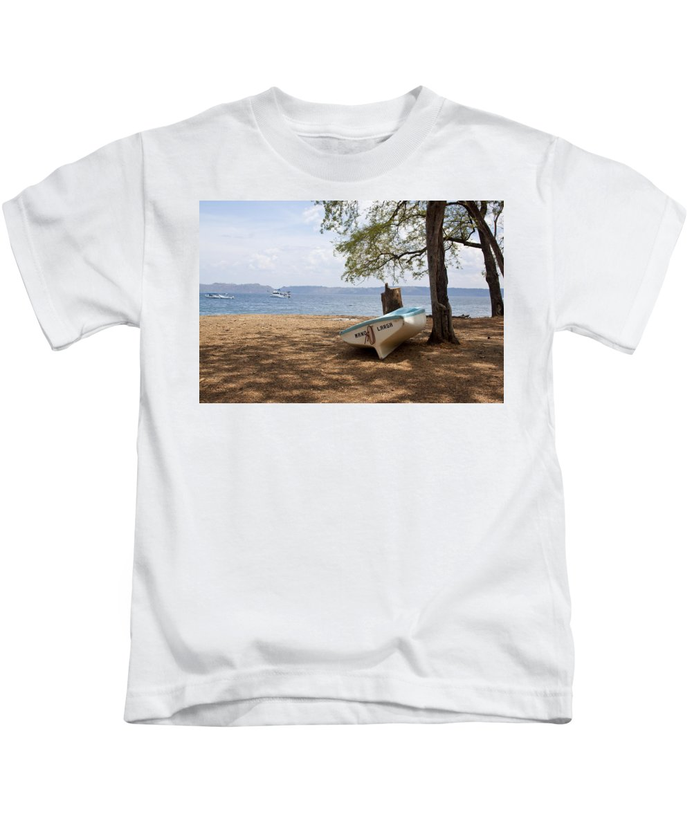 Boat Kids T-Shirt featuring the photograph Mano Larga by Jean Macaluso