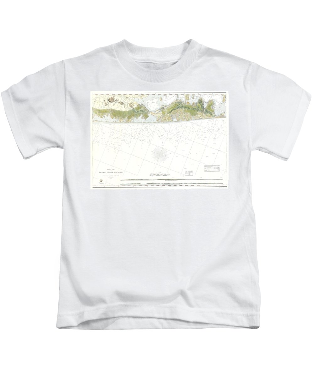 Kids T-Shirt featuring the photograph Map Of Suffolk County Southern Long Island New York by Paul Fearn