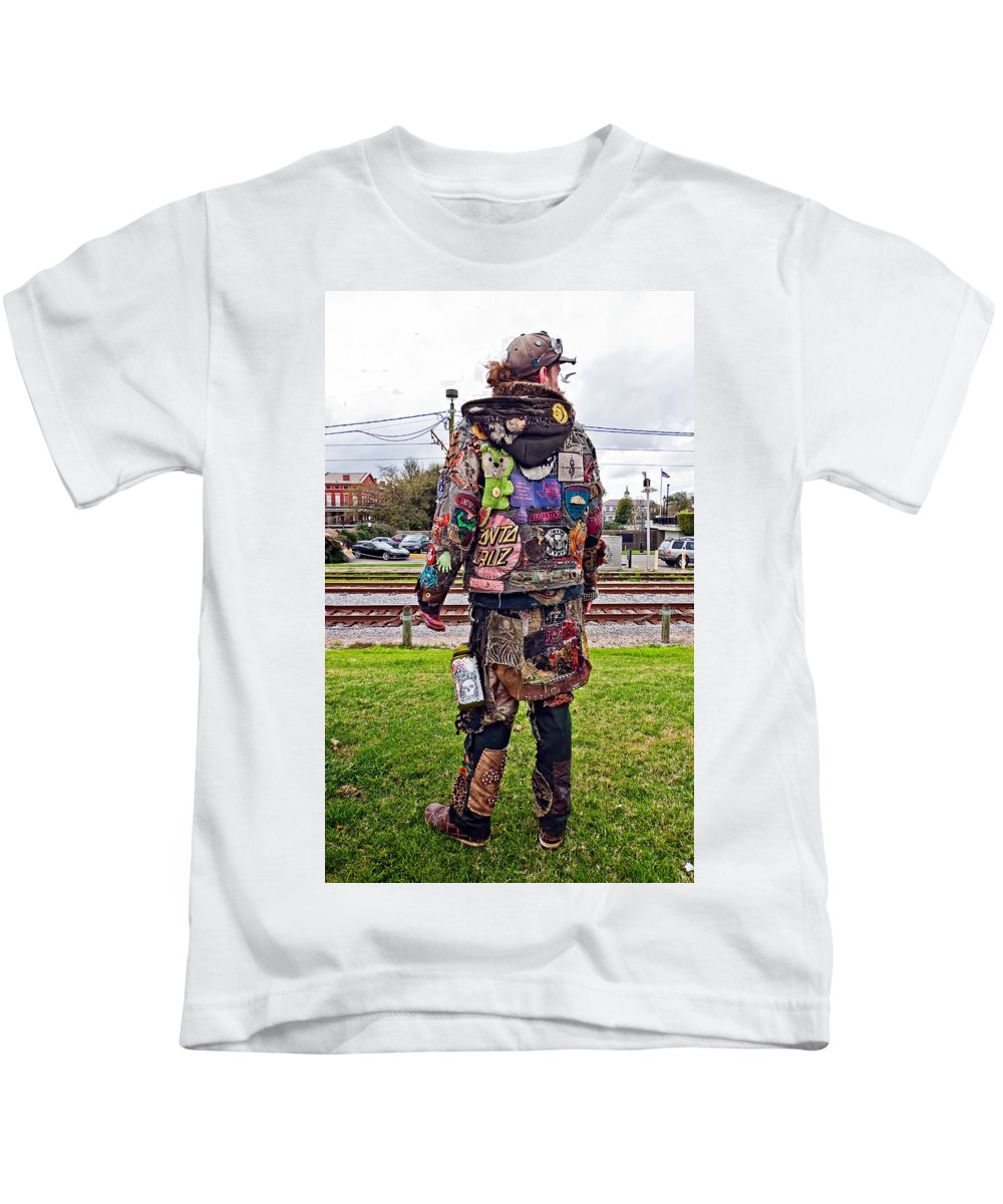 French Quarter Kids T-Shirt featuring the photograph Marching To His Own Drummer 3 by Steve Harrington