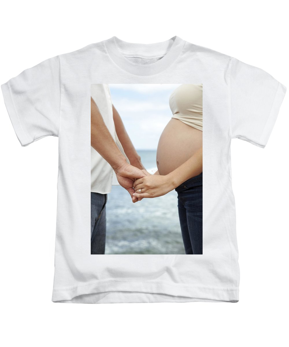 Ala Moana Kids T-Shirt featuring the photograph Maternity Love by Brandon Tabiolo