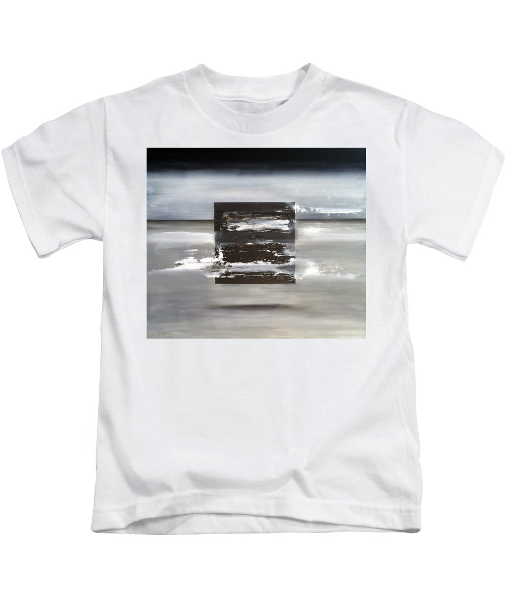 Abstract Art Kids T-Shirt featuring the painting Matrix by Antonio Ortiz
