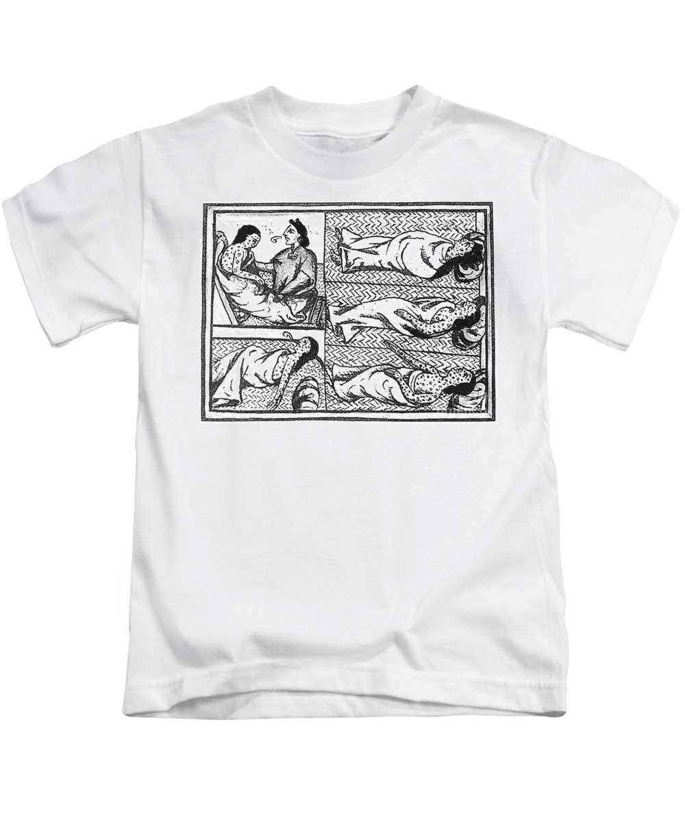 16th Century Kids T-Shirt featuring the photograph Mexico: Smallpox Epidemic by Granger