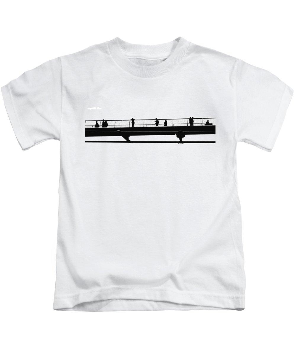 London Kids T-Shirt featuring the photograph Milennium Bridge In London by Chevy Fleet
