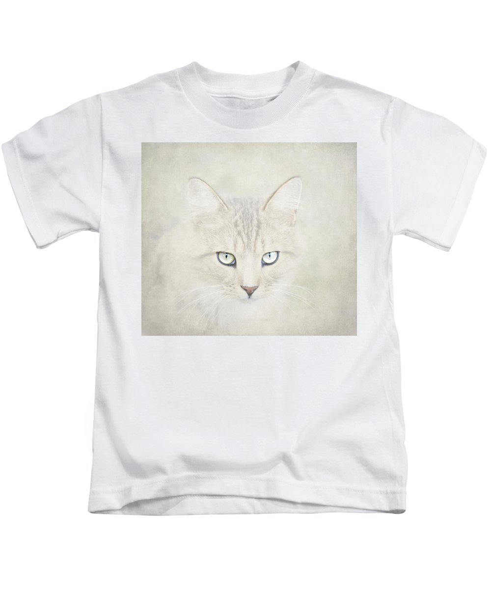 Cat Kids T-Shirt featuring the photograph Mind Disarmed by Evelina Kremsdorf