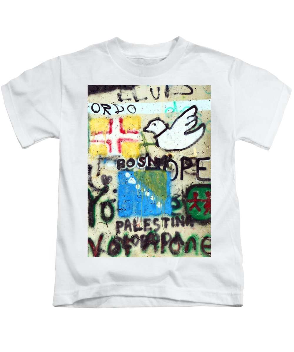 Mixed Messages Kids T-Shirt featuring the photograph Mixed Messages by Munir Alawi