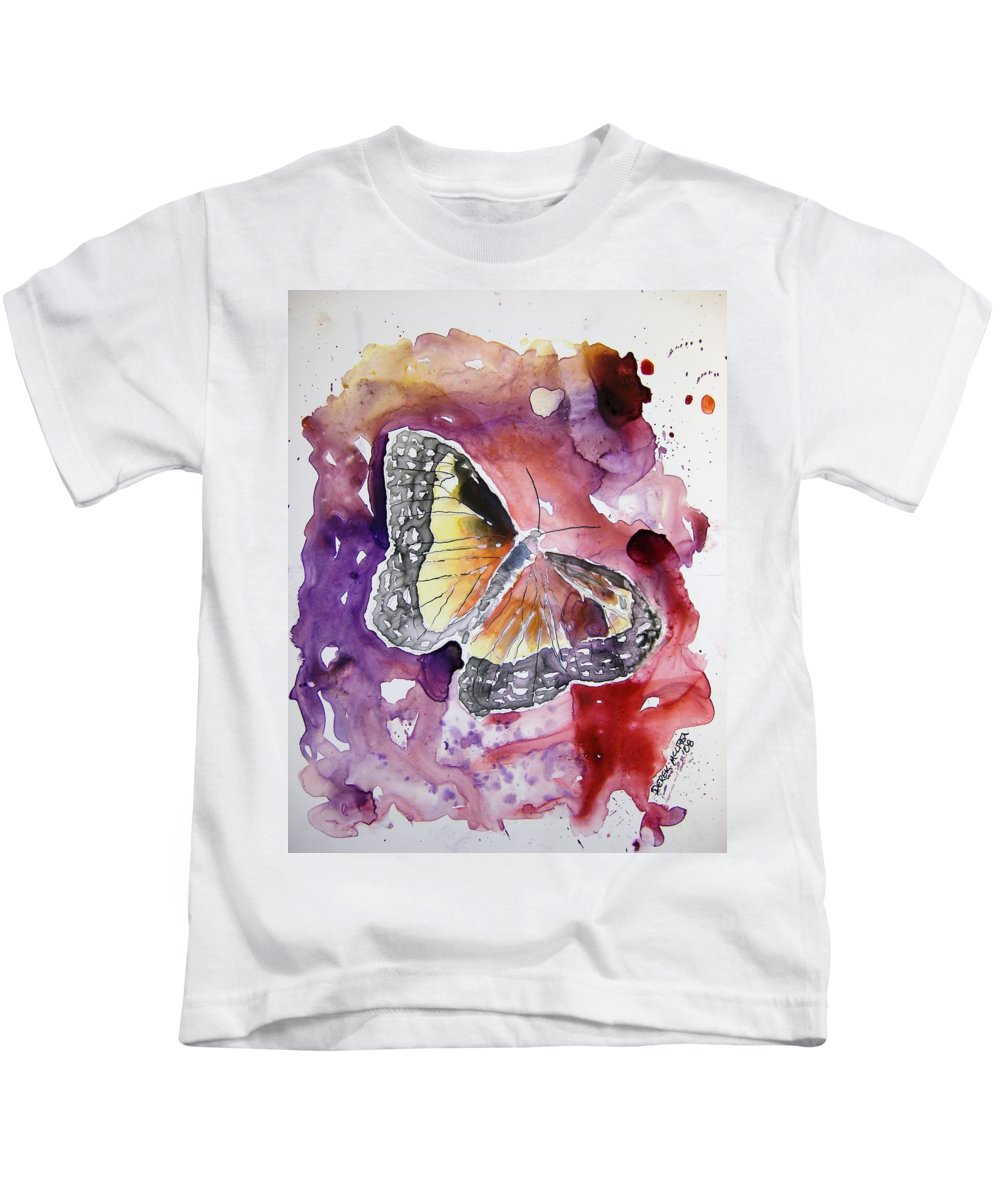 Monarch Kids T-Shirt featuring the painting Monarch Butterfly by Derek Mccrea