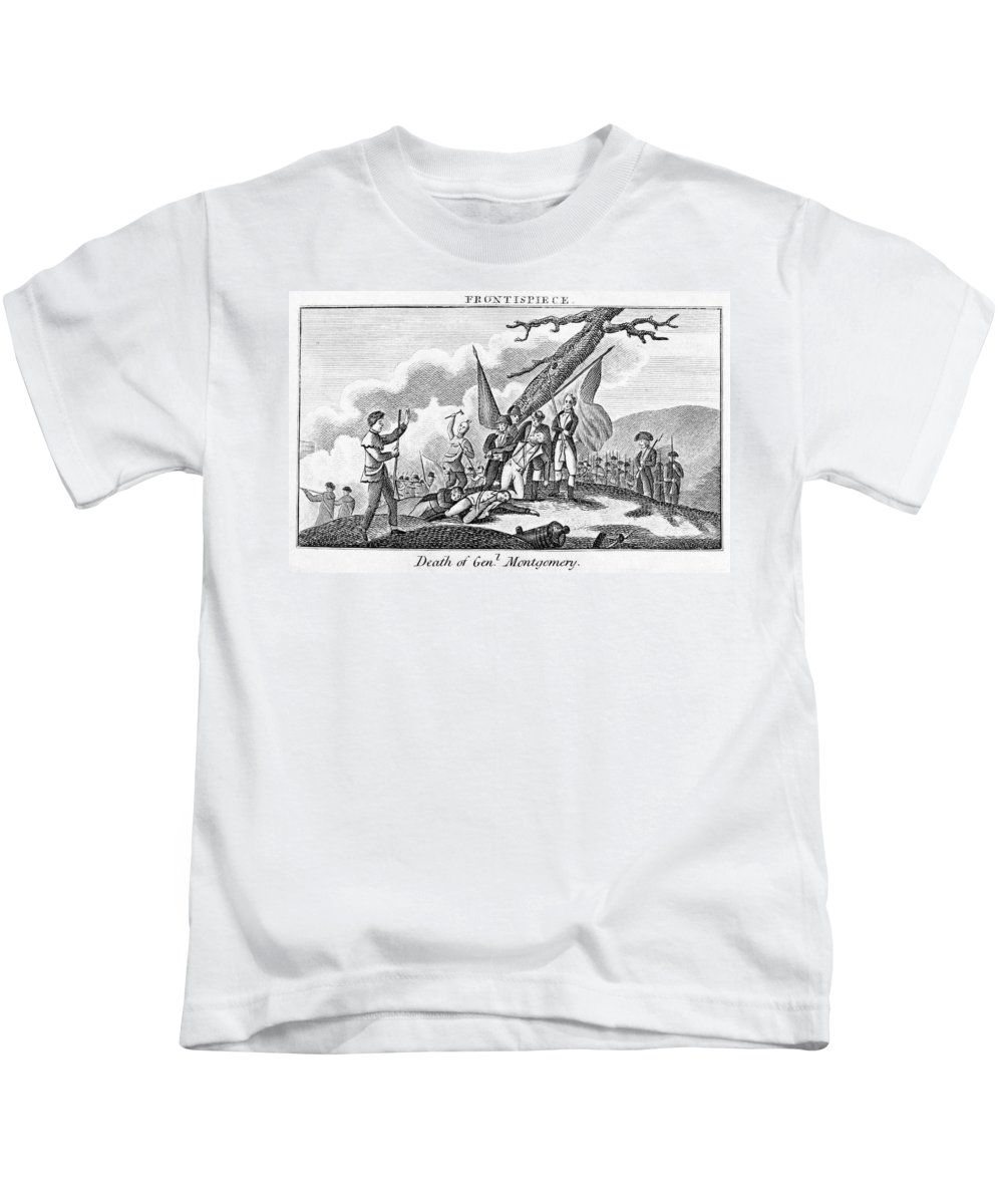 1775 Kids T-Shirt featuring the photograph Montgomerys Death, 1775 by Granger