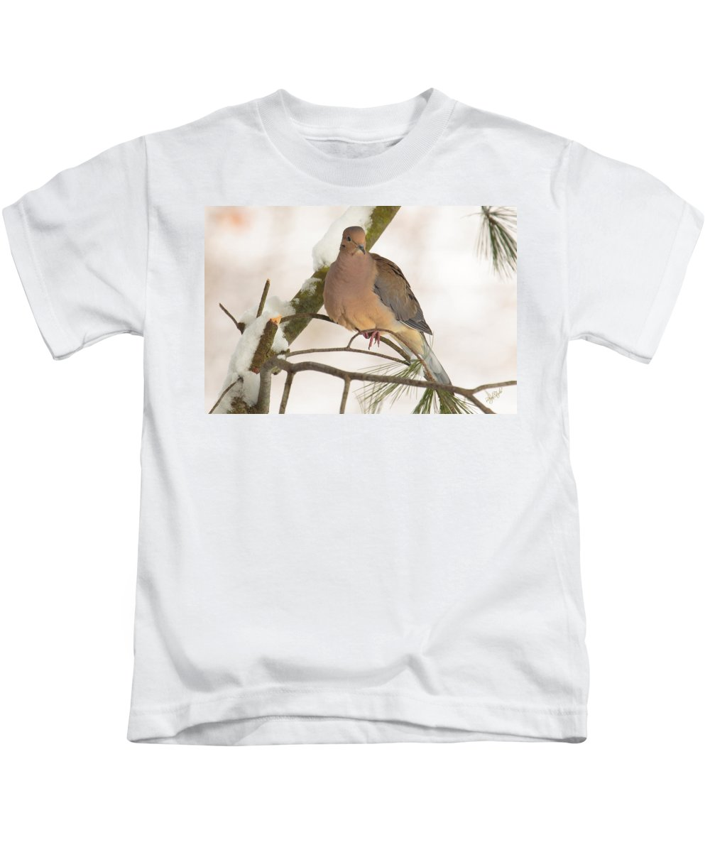 Morning Kids T-Shirt featuring the photograph Morning Dove by Everet Regal