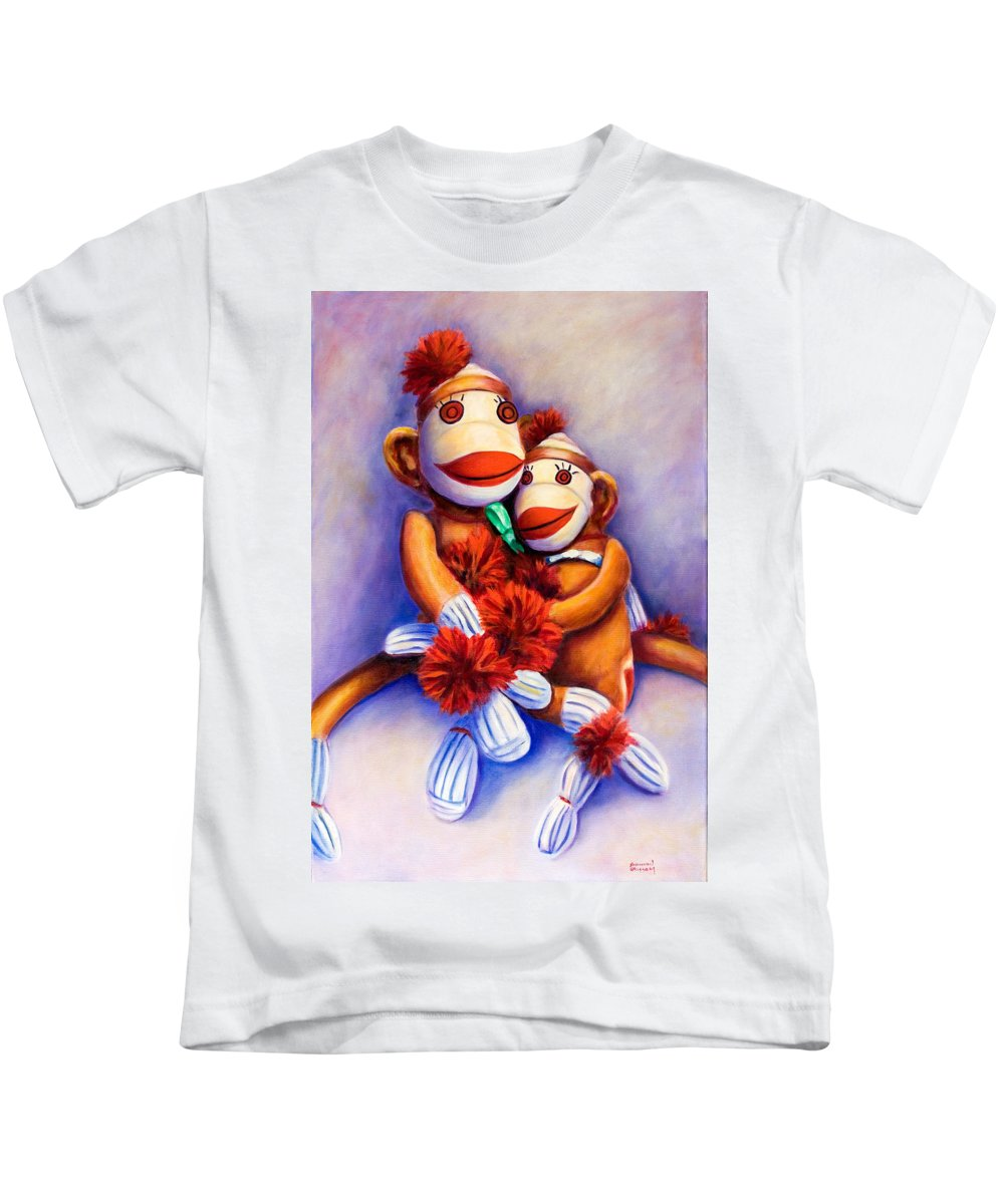 Children Kids T-Shirt featuring the painting Mother And Child by Shannon Grissom