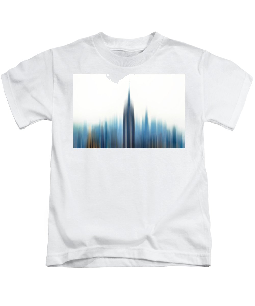 New York City Kids T-Shirt featuring the photograph Moving An Empire by Az Jackson