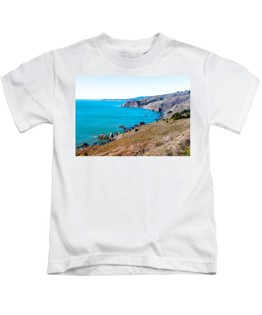 Ocean Kids T-Shirt featuring the photograph Muir Beach Lookout North View by Glen Laughton