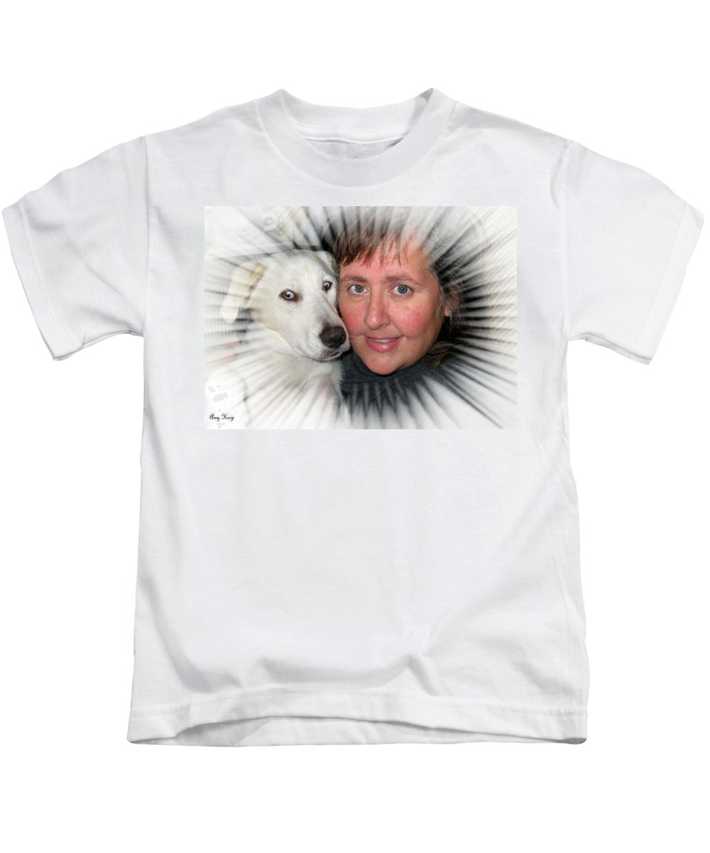 Lab Kids T-Shirt featuring the photograph My Best Buddy by Amy Hosp