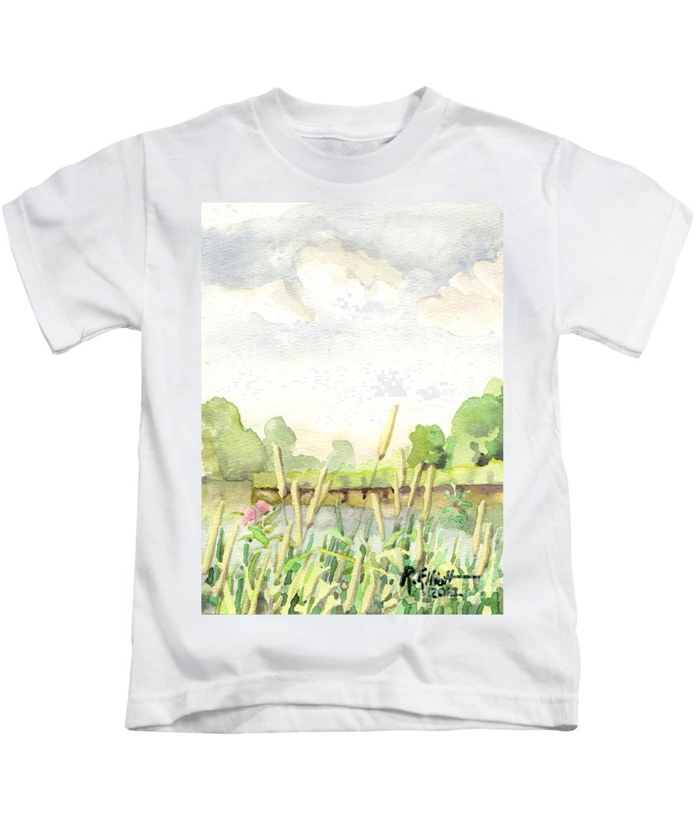 Acrylic Prints Kids T-Shirt featuring the painting Napanee River West by John Herzog