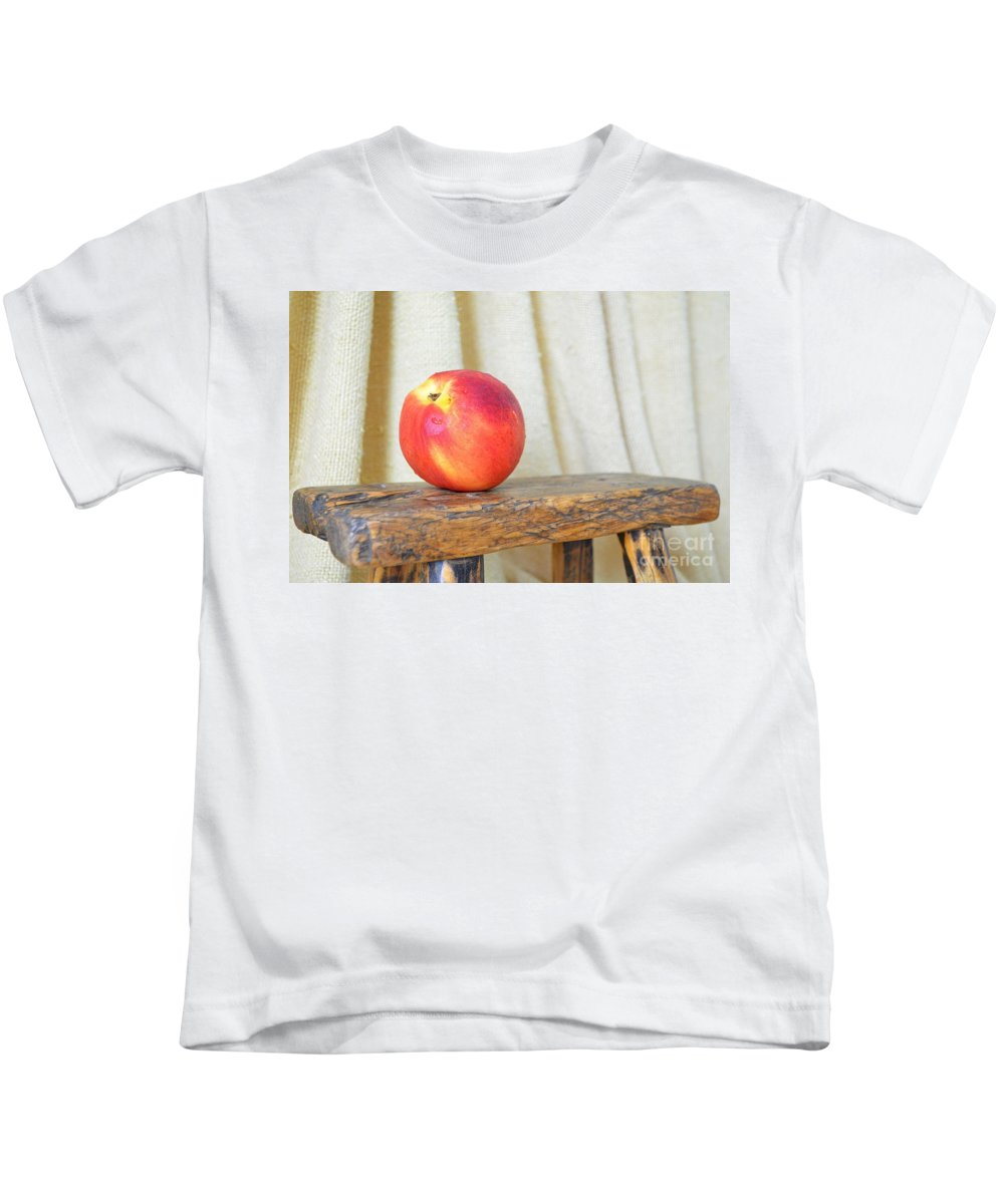 Nectarine Kids T-Shirt featuring the photograph Nectarine by Mary Deal