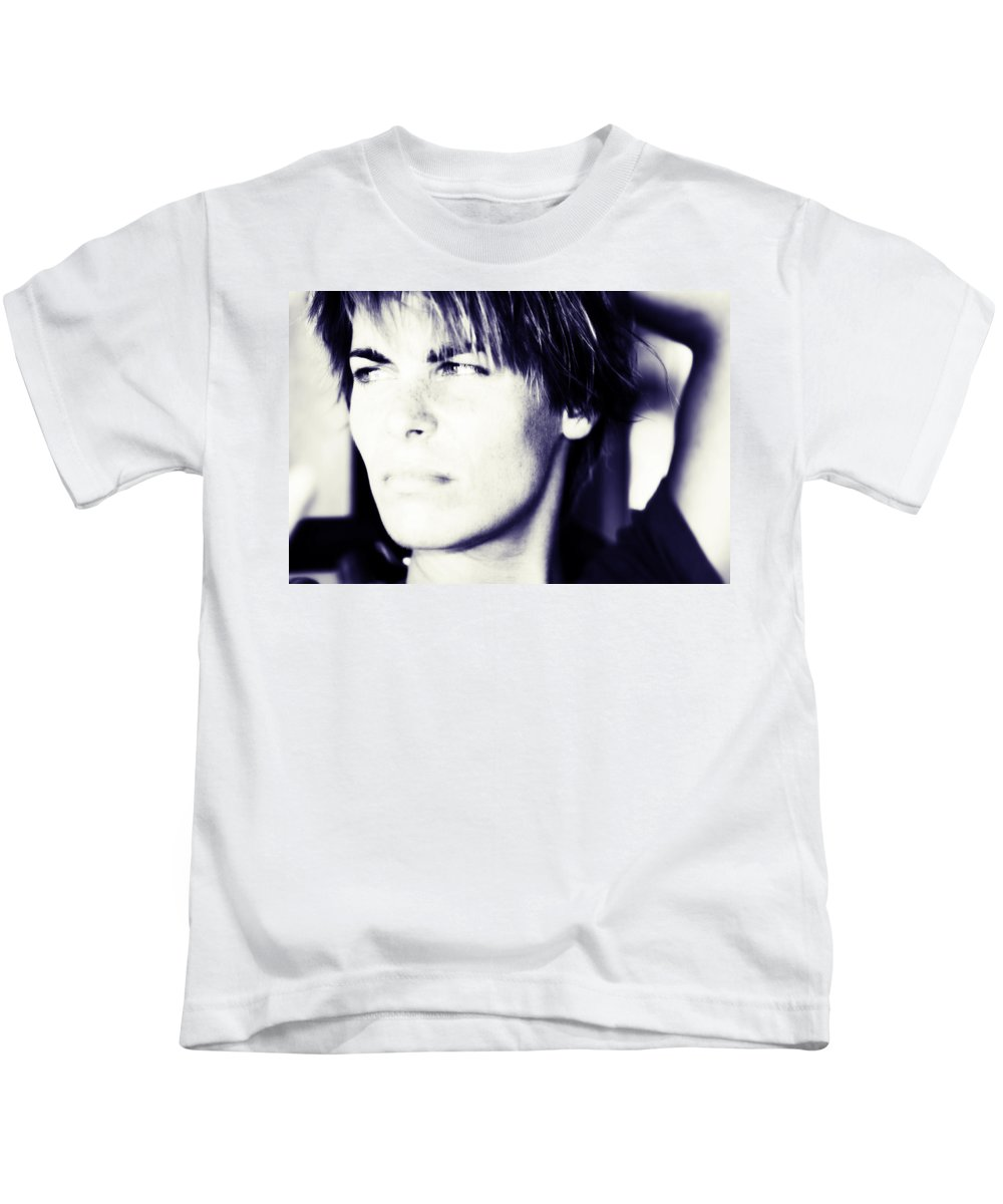 Woman Kids T-Shirt featuring the photograph Nikita by Jenny Rainbow