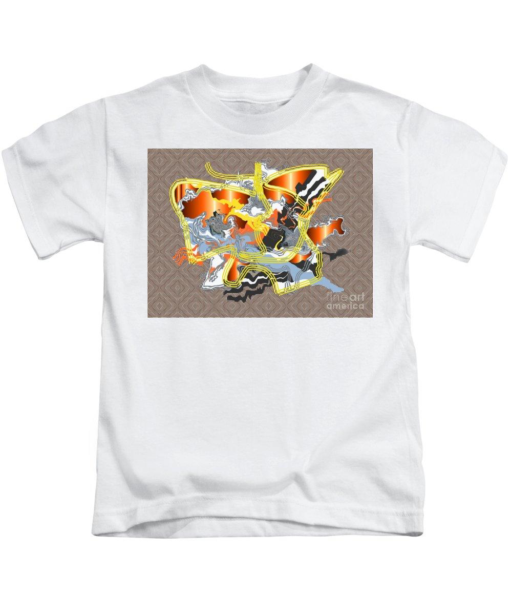 Kids T-Shirt featuring the digital art No. 1094 by John Grieder
