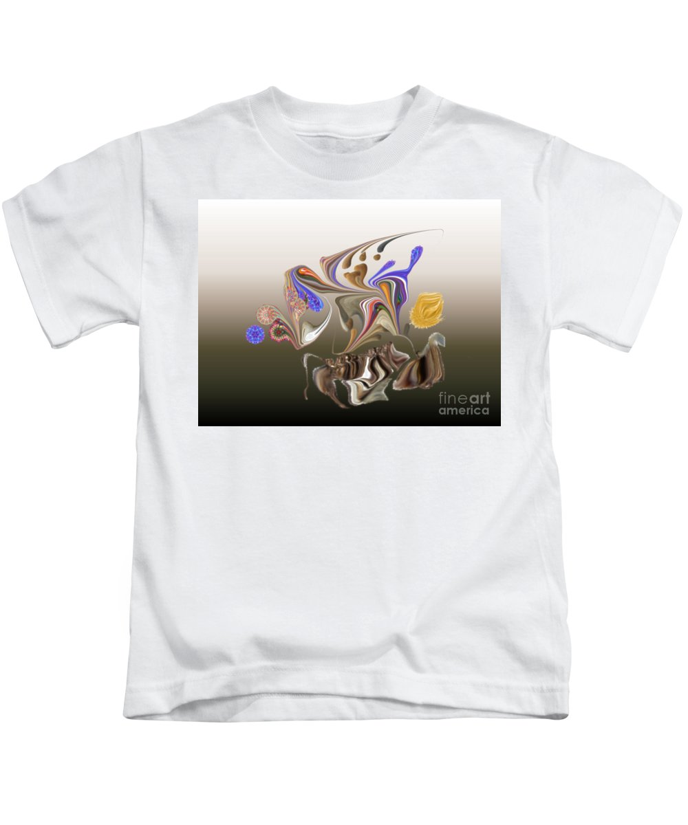 Kids T-Shirt featuring the digital art No. 482 by John Grieder
