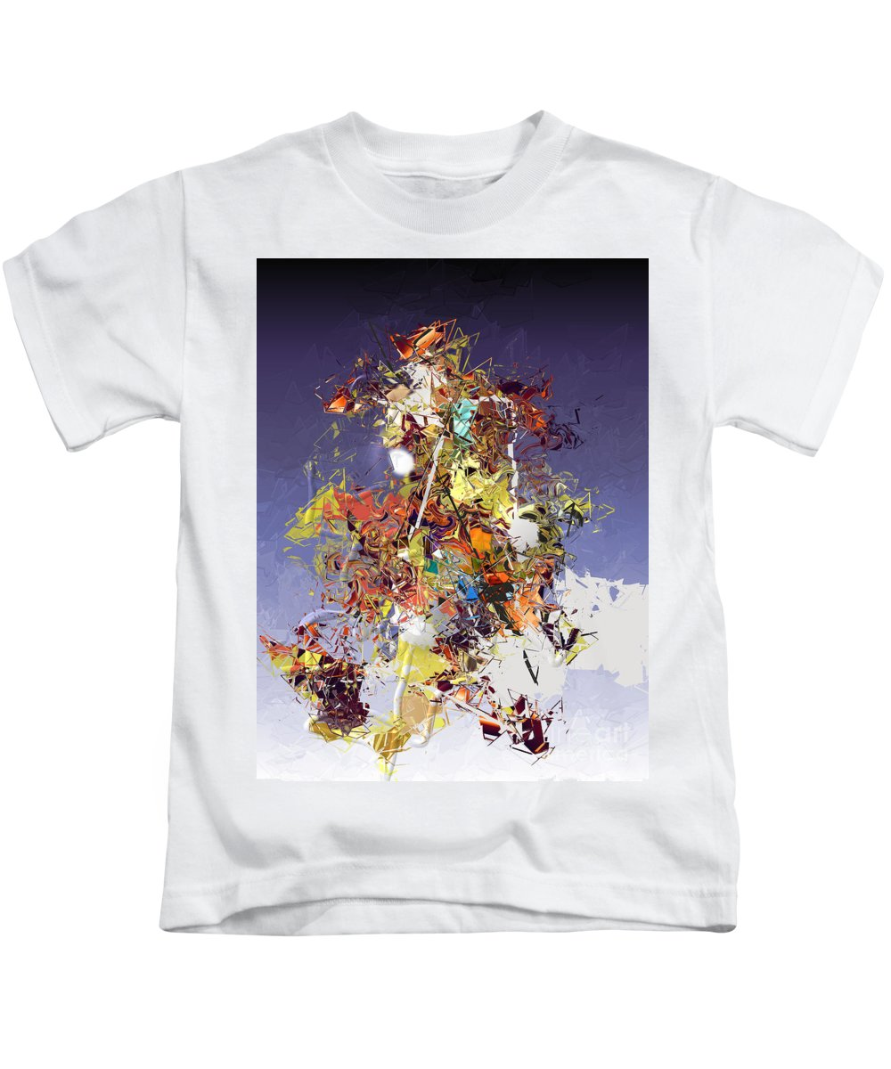 Kids T-Shirt featuring the digital art No. 837 by John Grieder