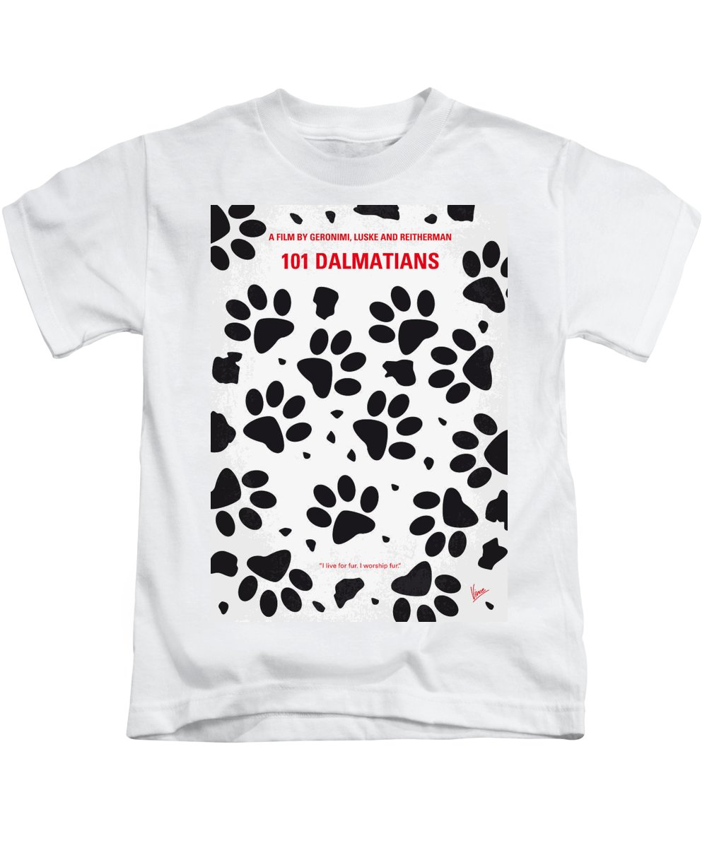 a65e67a39 101 Kids T-Shirt featuring the digital art No229 My 101 Dalmatians Minimal  Movie Poster