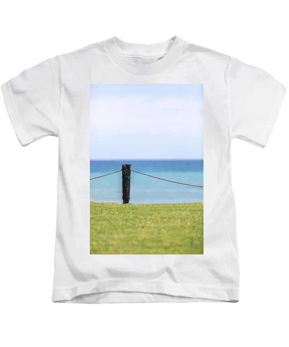Ocean Kids T-Shirt featuring the photograph Ocean Front by Russ Dixon