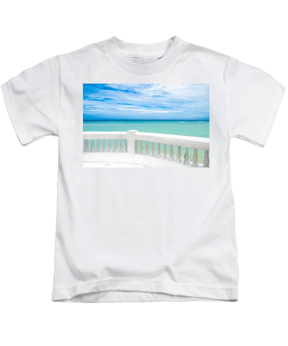 Sea Kids T-Shirt featuring the photograph Ocean View by Jacquelyn Crady
