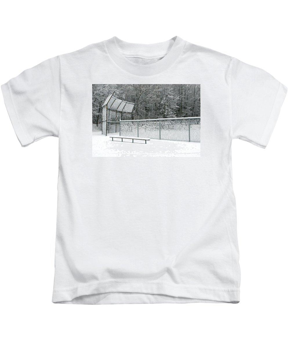 Winter Kids T-Shirt featuring the photograph Off Season by Ann Horn