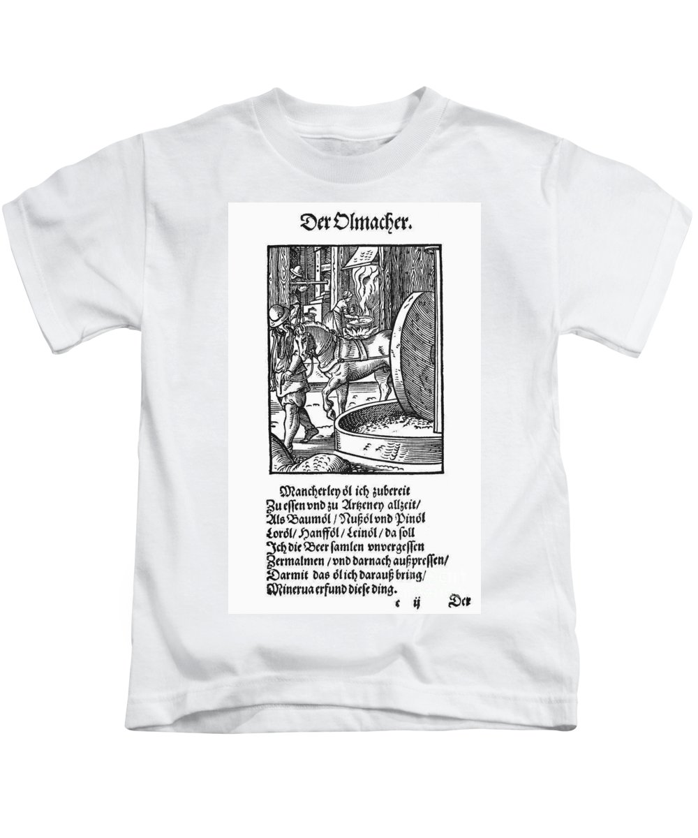 1568 Kids T-Shirt featuring the photograph Oil Press, 1568 by Granger