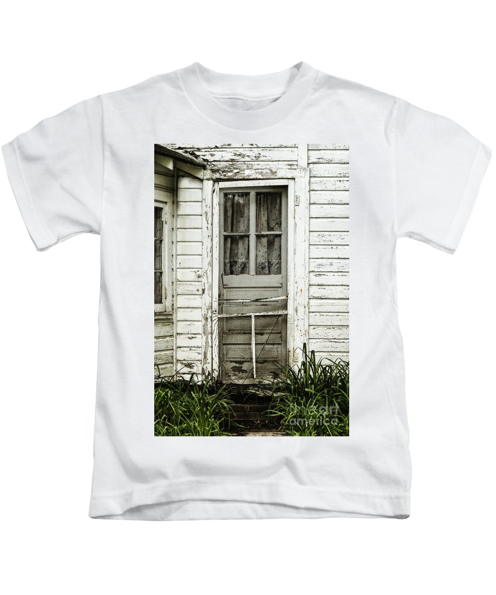 Door Kids T-Shirt featuring the photograph Old Door by Margie Hurwich