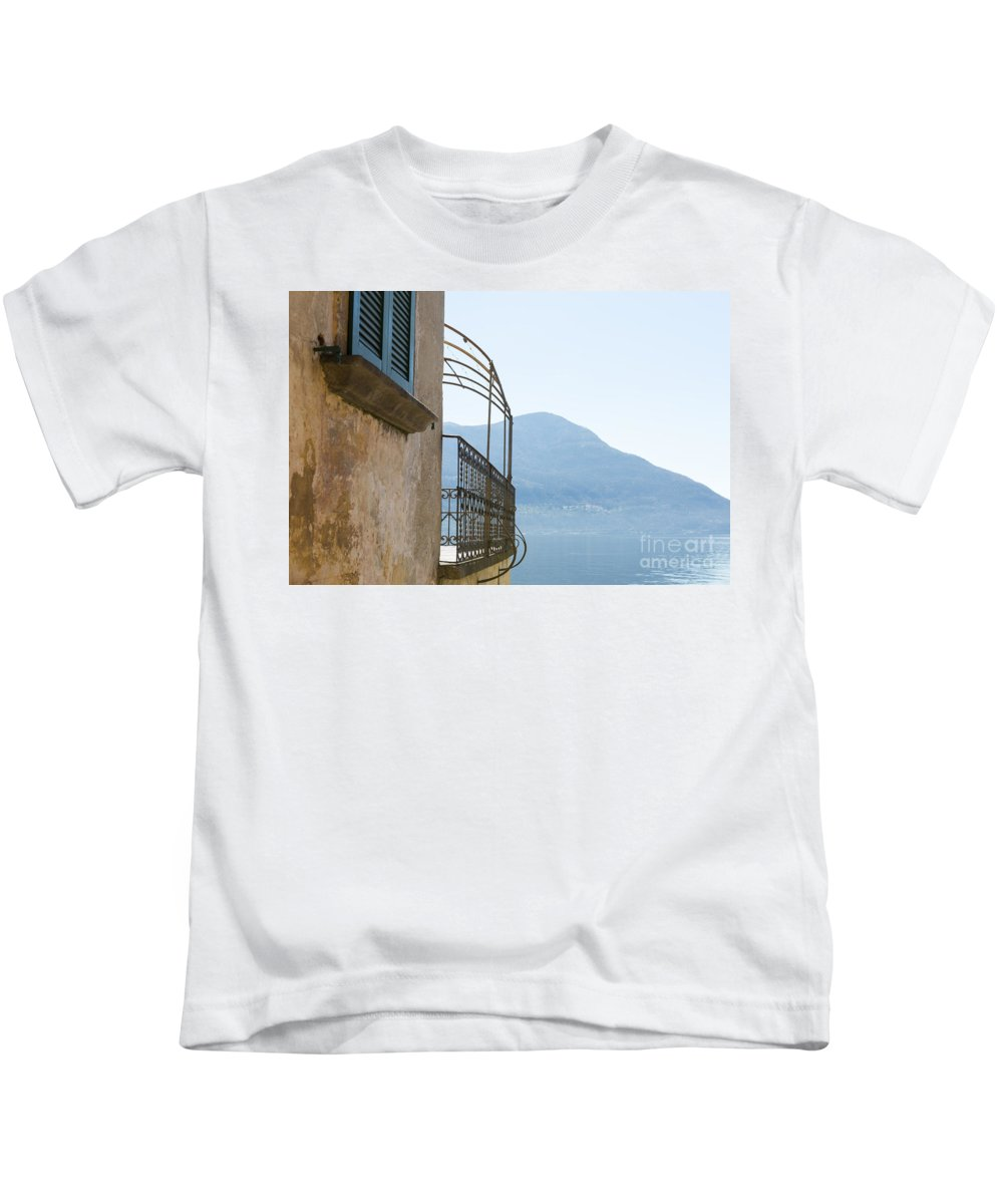 House Kids T-Shirt featuring the photograph Old House With Lake View by Mats Silvan