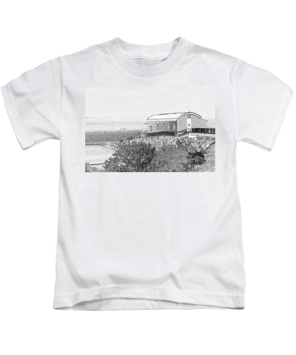 Tenby Kids T-Shirt featuring the photograph Old Lifeboat Station Tenby by Steve Purnell