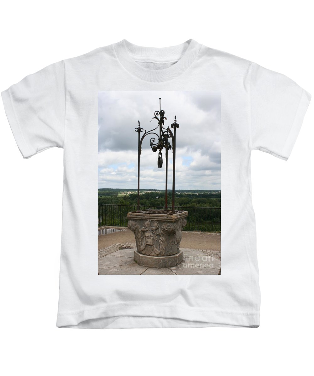 Well Kids T-Shirt featuring the photograph Old Well Chateau Chaumont by Christiane Schulze Art And Photography