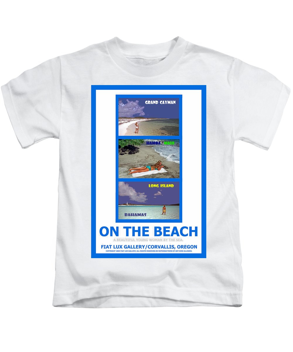 Grand Cayman. Maui Kids T-Shirt featuring the photograph On The Beach II by Michael Moore