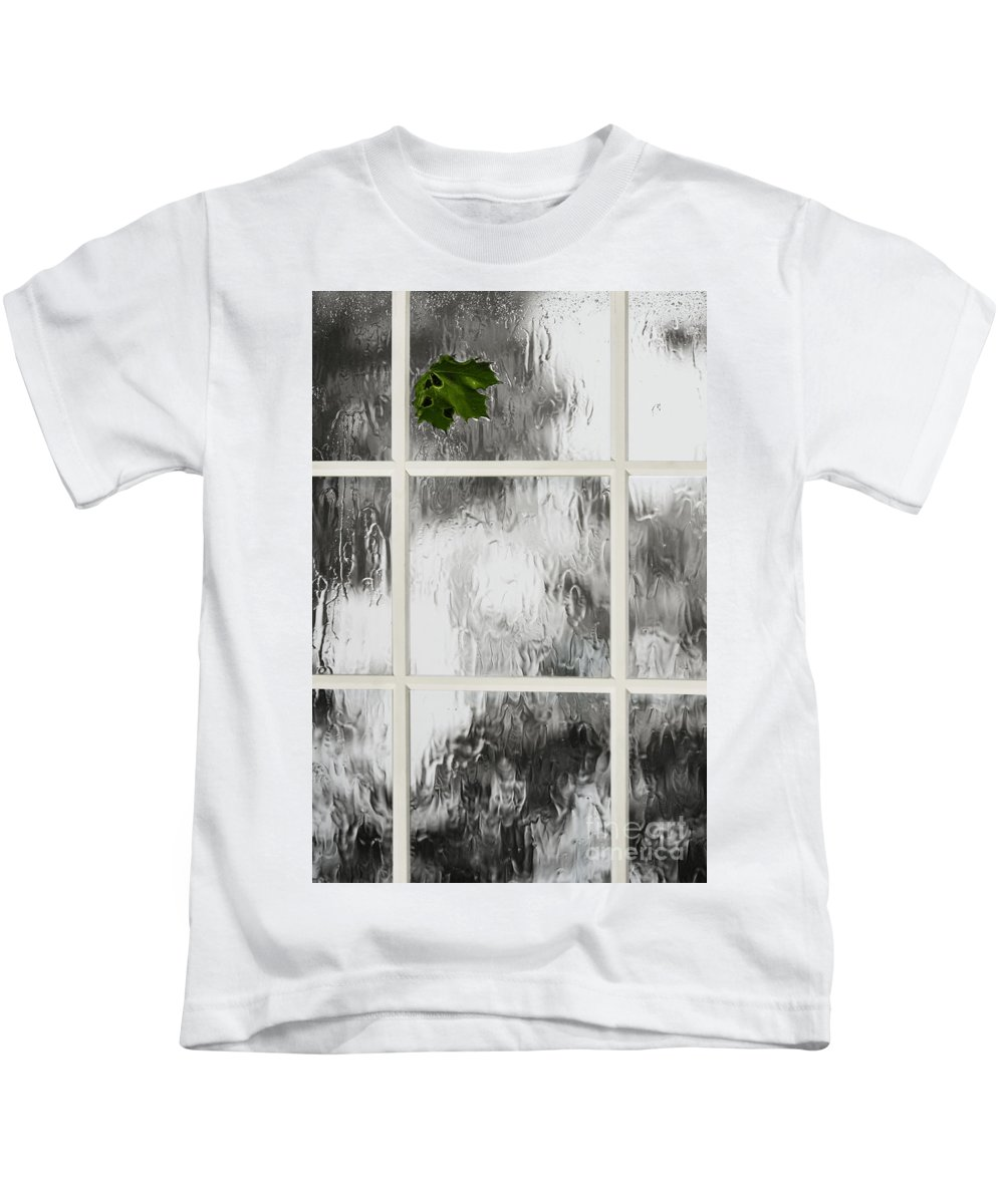 Leaf Kids T-Shirt featuring the photograph One Stormy Night by Margie Hurwich