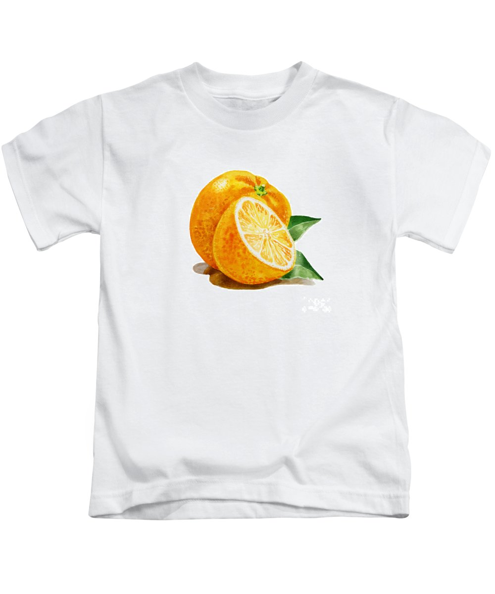 Orange Kids T-Shirt featuring the painting Orange by Irina Sztukowski