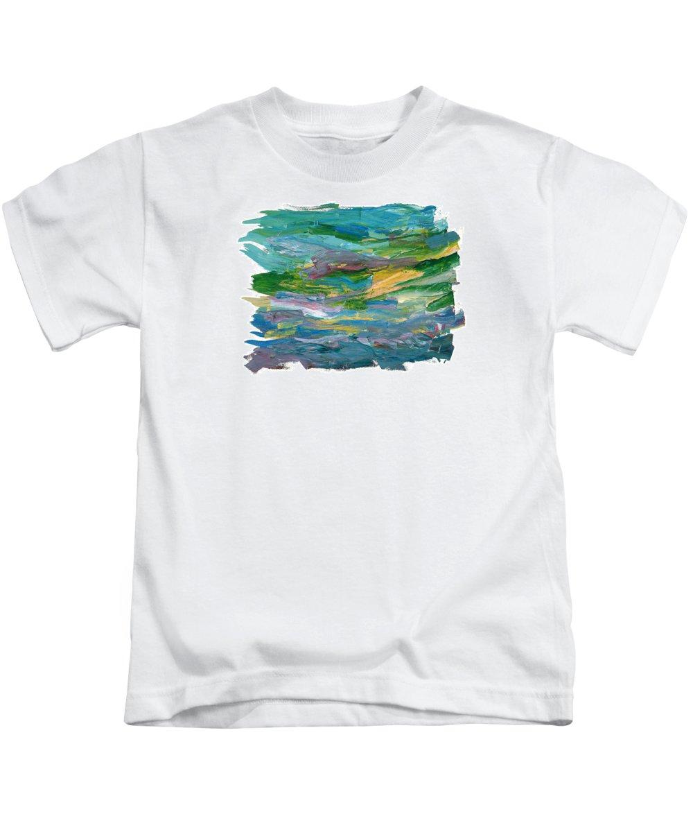 Abstract Kids T-Shirt featuring the painting Osterlen by Bjorn Sjogren