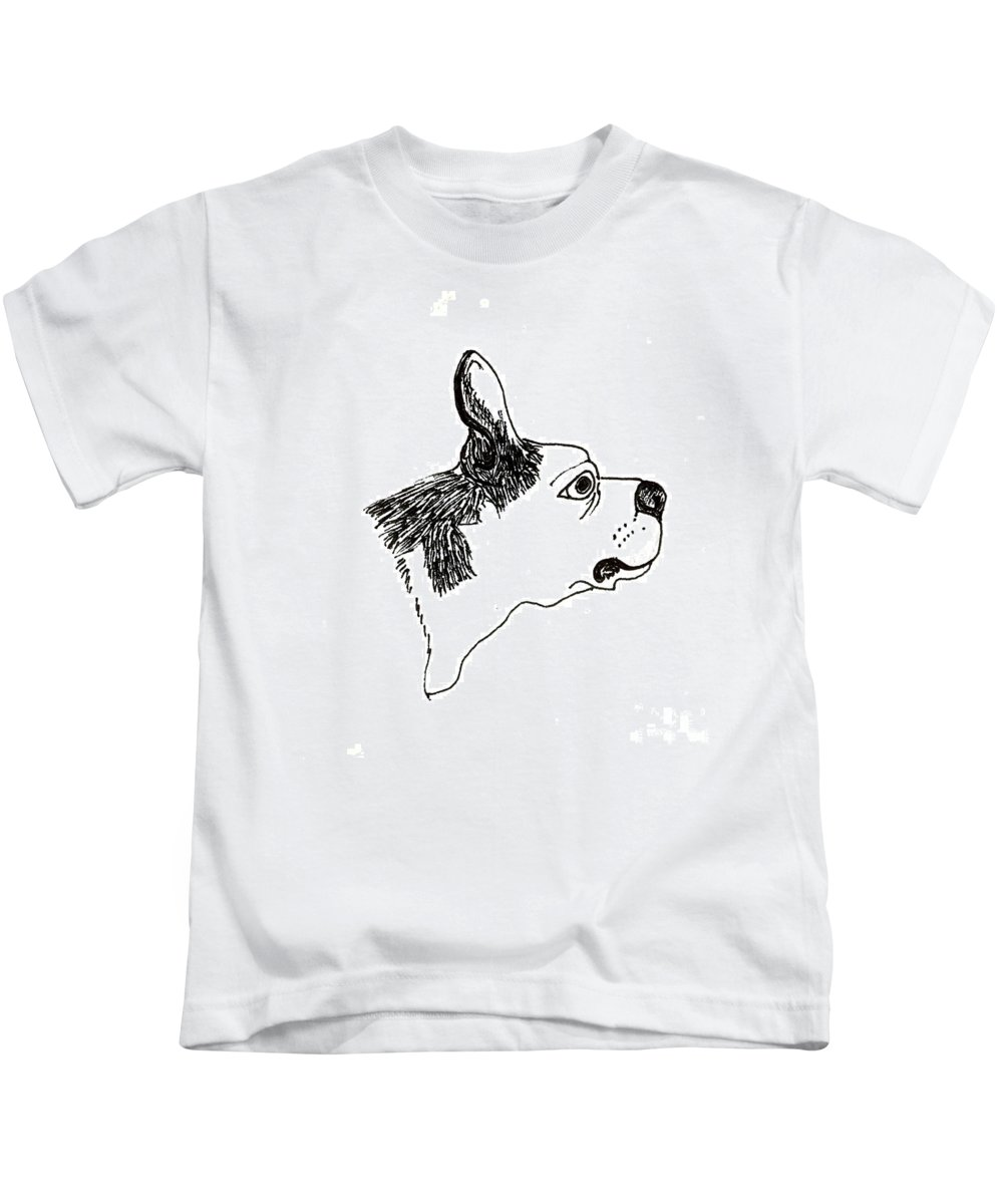 Otto Kids T-Shirt featuring the painting Otto by Lori Ziemba