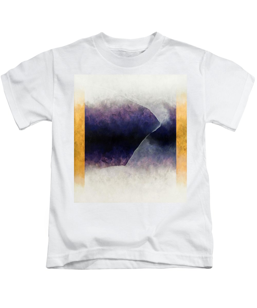Mysterious Kids T-Shirt featuring the painting Ouroboros Three Blue, 2010 by Mathew Clum