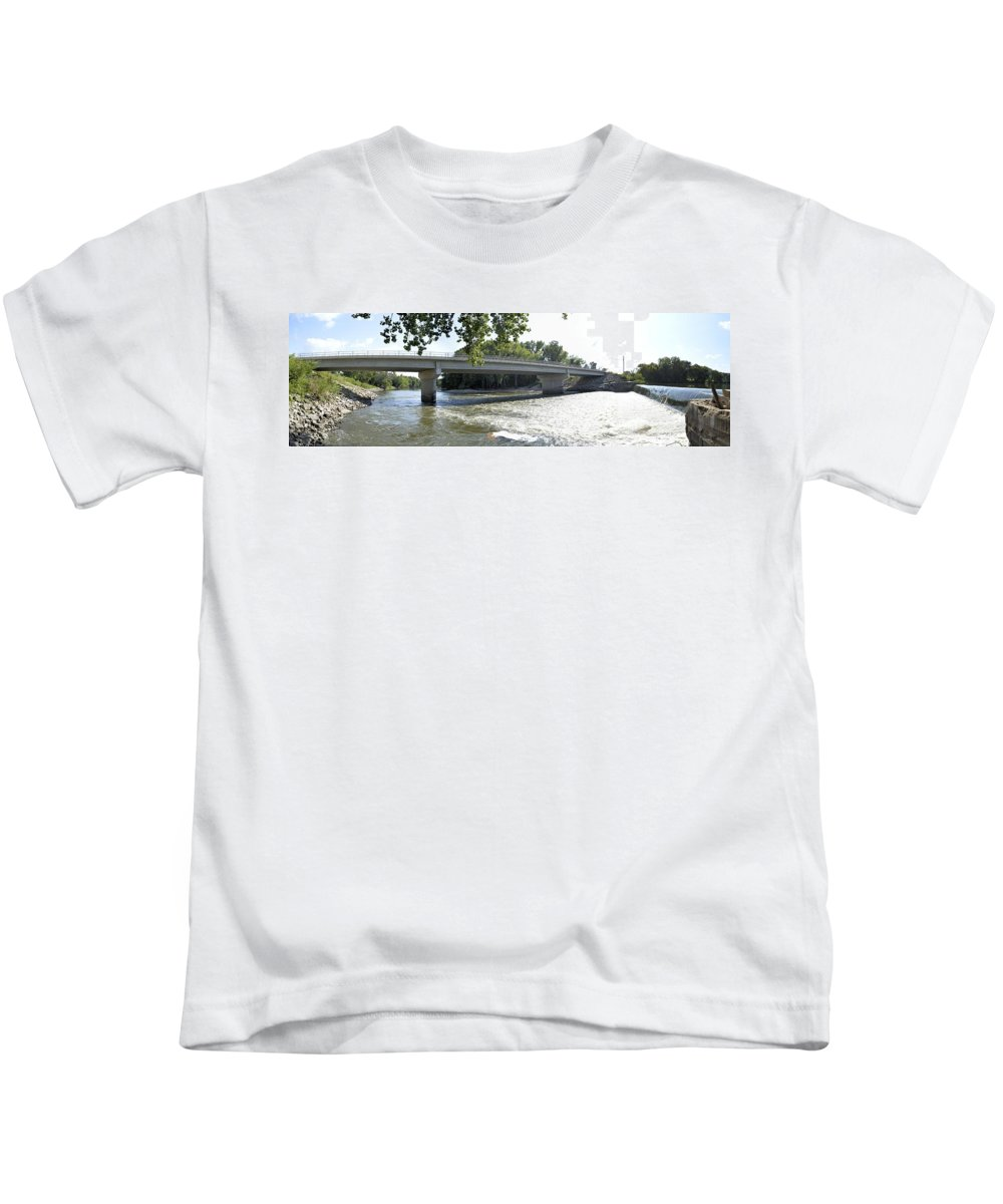 Bridge Kids T-Shirt featuring the photograph Over The River by Bonfire Photography