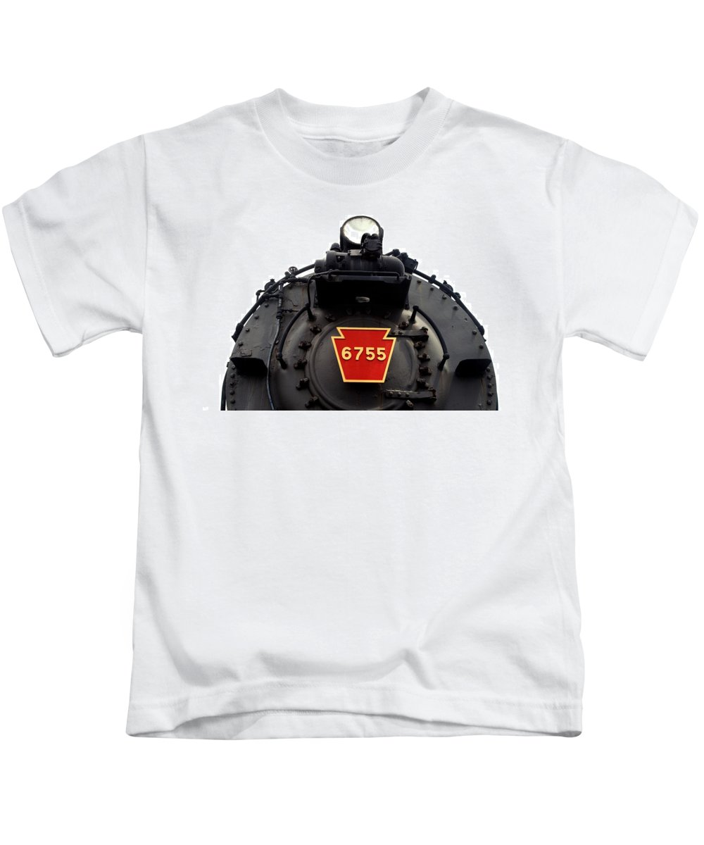 Pennsylvania Railway Kids T-Shirt featuring the photograph P R R 6755 by Paul W Faust - Impressions of Light