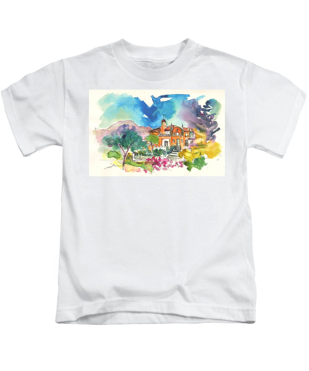 Travel Kids T-Shirt featuring the painting Palace In Sintra by Miki De Goodaboom