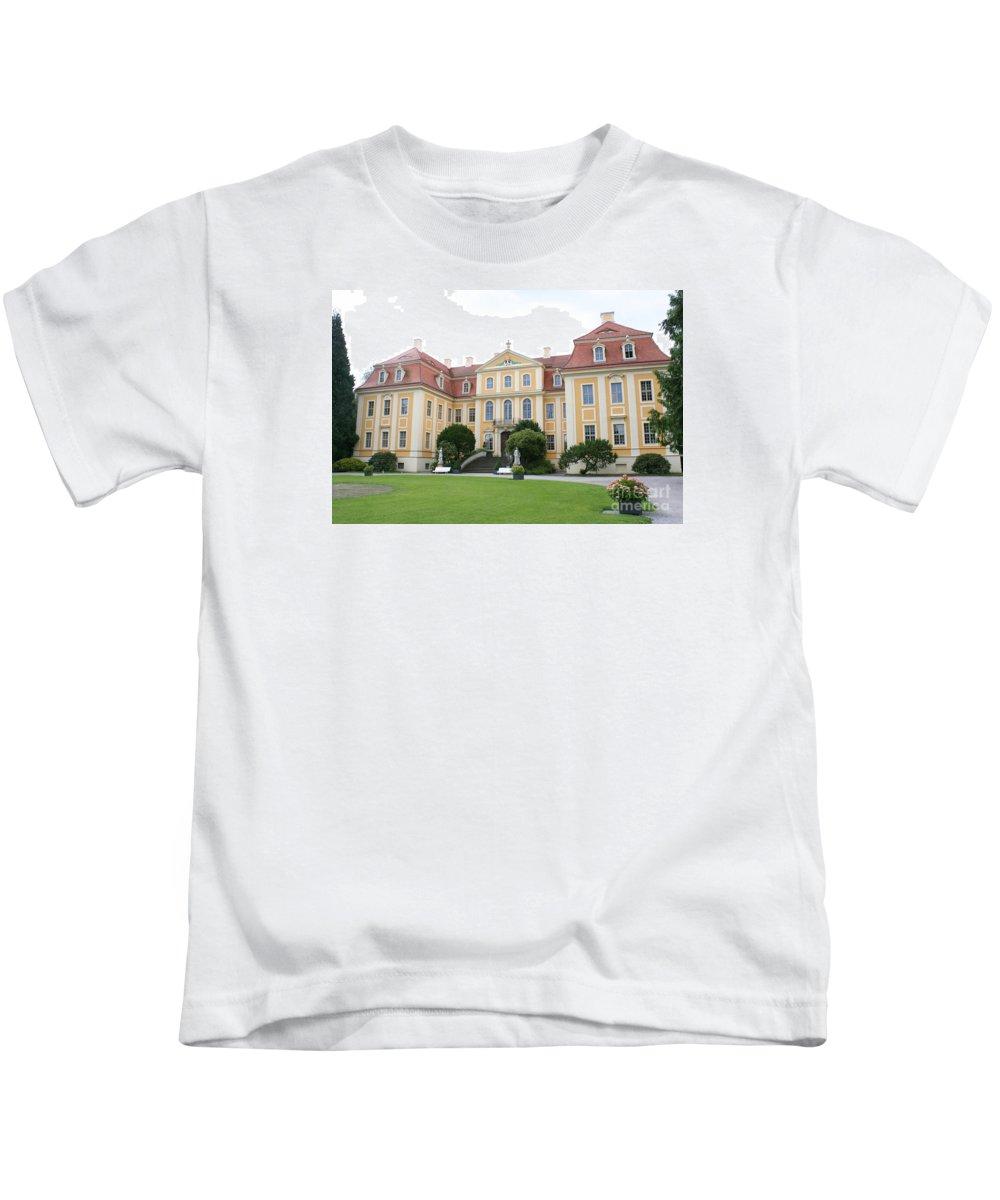 Palace Kids T-Shirt featuring the photograph Palace Rammenau - Germany by Christiane Schulze Art And Photography