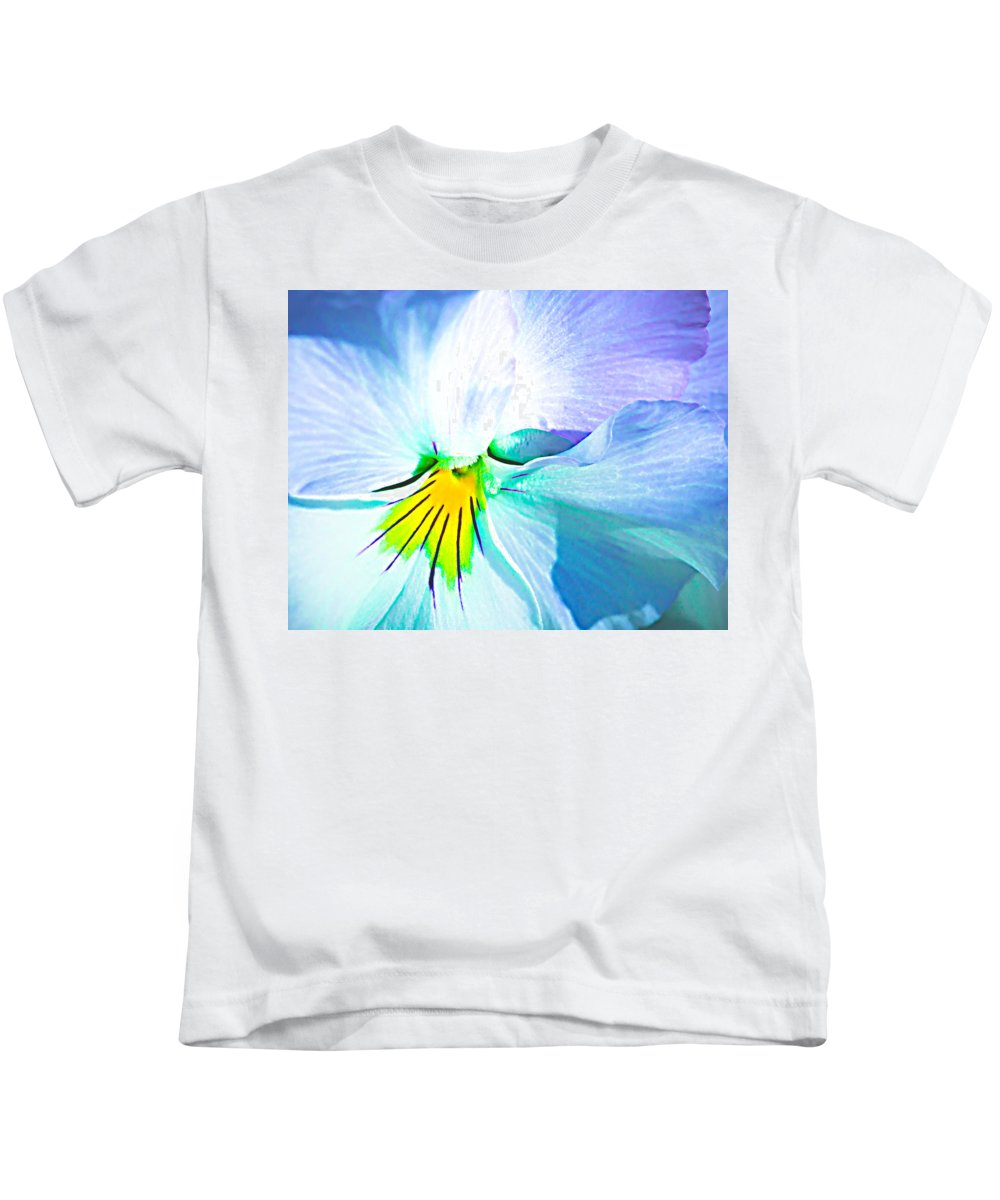 Flower Kids T-Shirt featuring the photograph Pansy Flower 6 by Alexander Senin