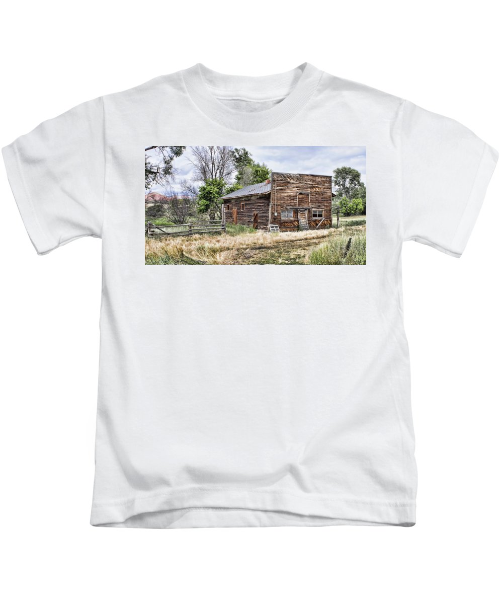 Store Kids T-Shirt featuring the photograph Past Stores by Cathy Anderson