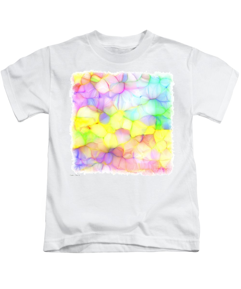 Pattern Kids T-Shirt featuring the digital art Pastel Abstract Patterns IIi by Debbie Portwood