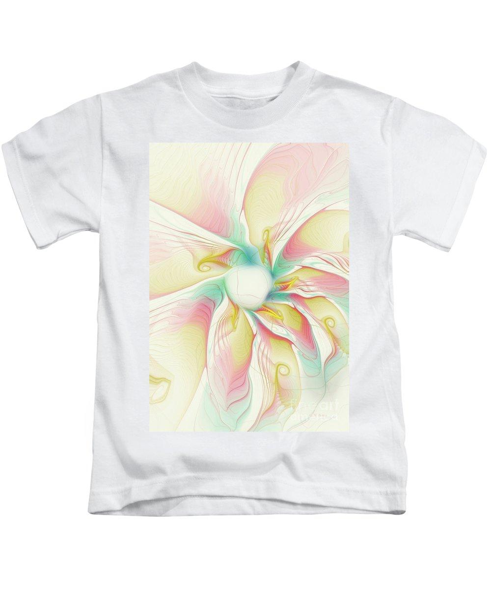 Flower Kids T-Shirt featuring the digital art Pastel Flower by Deborah Benoit