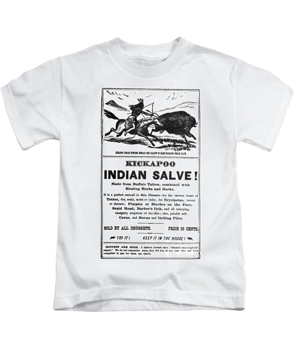 1890 Kids T-Shirt featuring the photograph Patent Medicine, C1890 by Granger