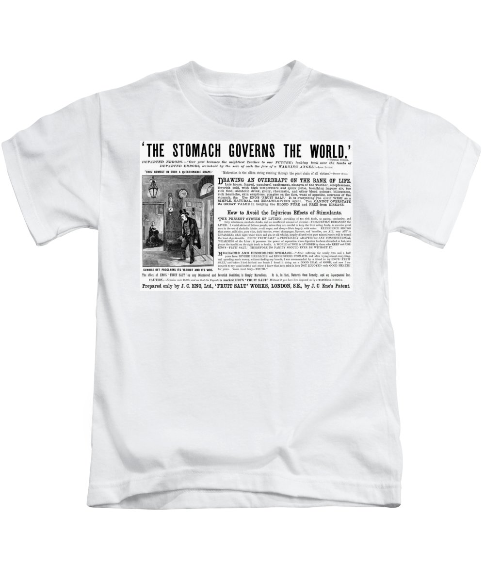 19th Century Kids T-Shirt featuring the photograph Patent Medicine: Stomach by Granger